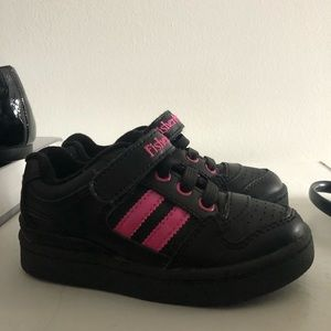 Fisher Price Size 8 Black & Pink Shoes